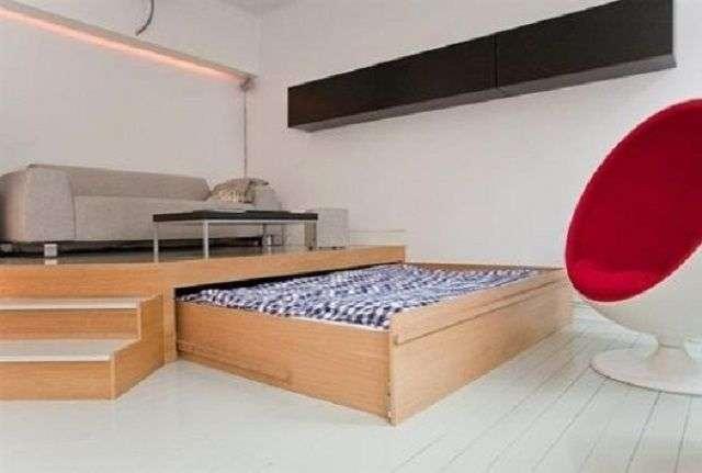 Вітальня і спальня в одній кімнаті