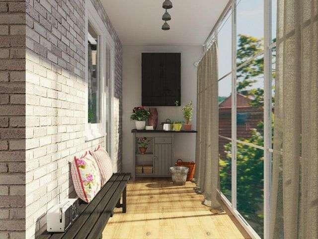 Балкон в стилі лофт