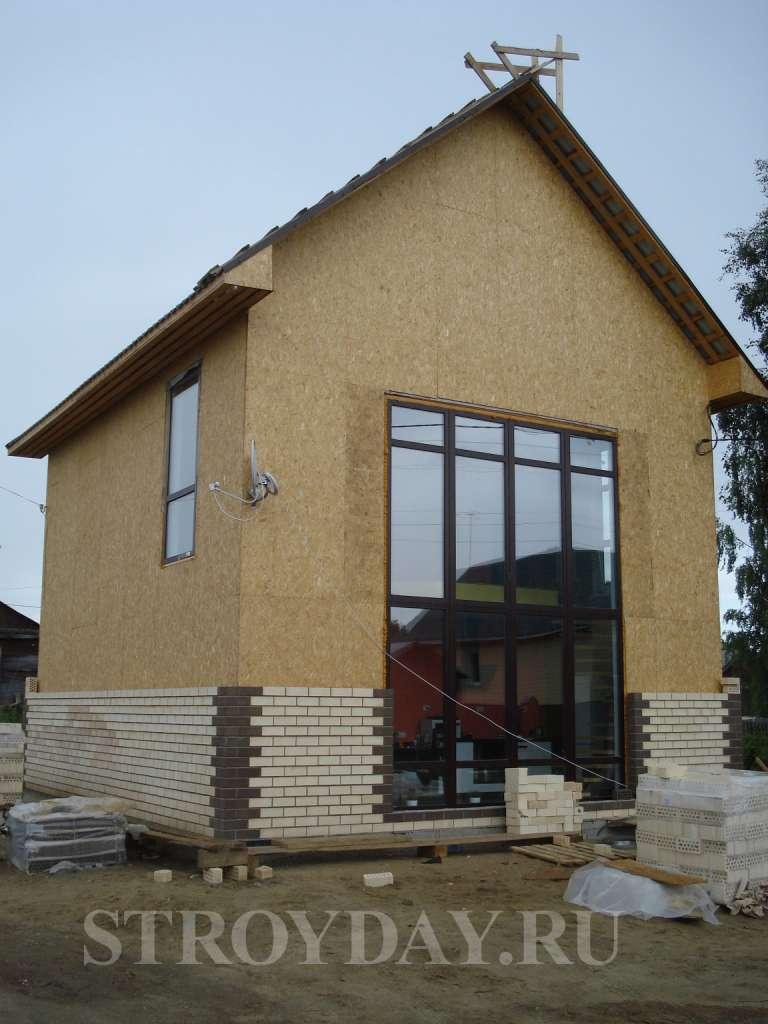Облицювання будинку з сип-панелей керамічною цеглою