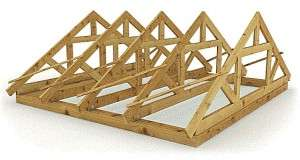 Двосхилий дах: кроквяна система під металочерепицю