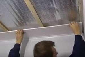 Як зробити стелю пластиковий