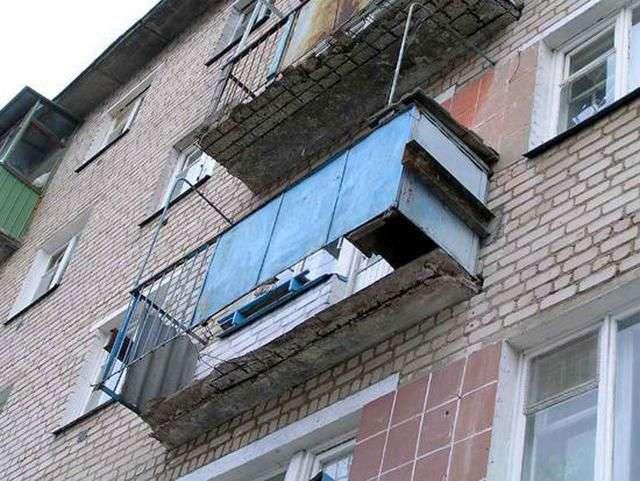 Стелю на балконі з чого зробити