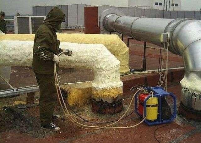Теплоізоляція для труб опалення на відкритому повітрі