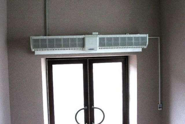 Теплова завіса на вхідні двері